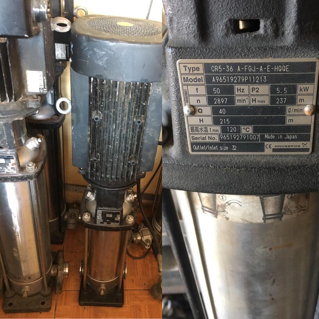 Máy bơm trục đứng bãi Nhật 1.5kw – 2Hp
